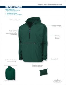 Charles River Adult Pack-N-Go Pullover (9904)