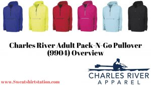 Charles River Adult Pack-N-Go Pullover (9904) Colors