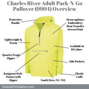 Charles River Adult Pack-N-Go Pullover (9904) Overview
