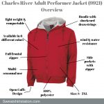 Charles River Adult Performer Jacket (9921) Overview