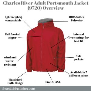 Charles River Adult Portsmouth Jacket (9720) Overview
