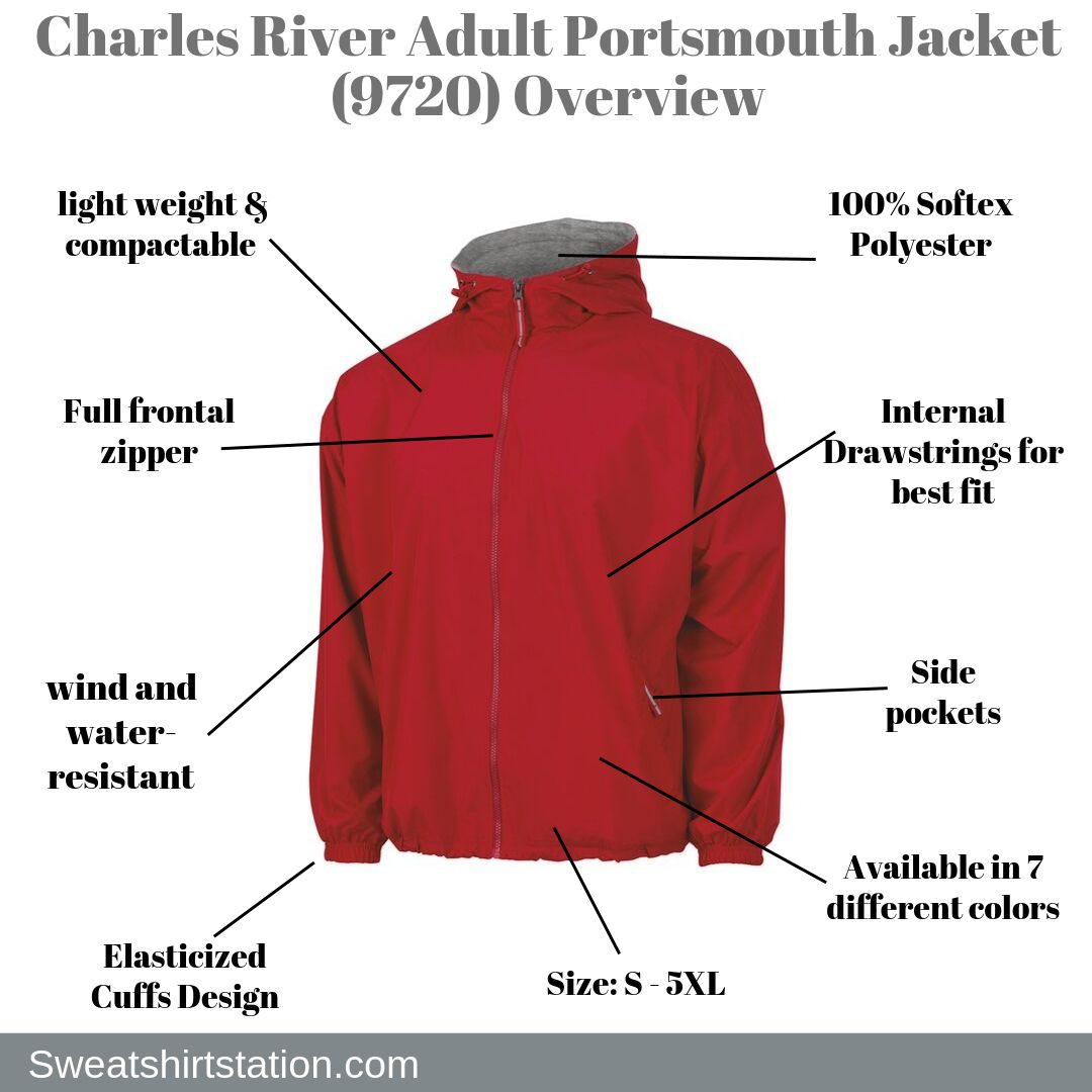 Charles River Apparel The New Portsmouth Nylon Jacket from