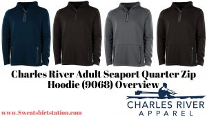 Charles River Adult Seaport Quarter Zip Hoodie