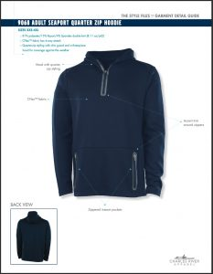 Charles River Adult Seaport Quarter Zip Hoodie (9068)