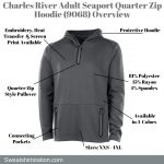 Charles River Adult Seaport Quarter Zip Hoodie (9068) Overview
