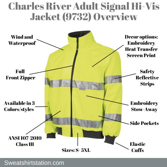 Charles-River-Adult-Signal-Hi-Vis-Jacket-9732-Overview