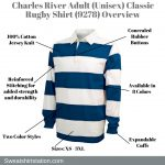 Charles River Adult (Unisex) Classic Rugby Shirt (9278) Overview
