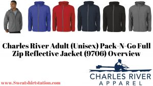 Charles River Adult (Unisex) Pack-N-Go Full Zip Reflective Jacket (9706) Colors and Styles