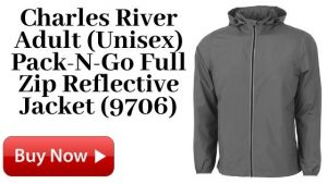Charles River Adult (Unisex) Pack-N-Go Full Zip Reflective Jacket (9706) For Sale