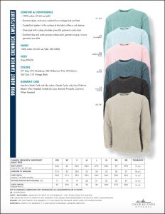 Charles River Apparel Camden Crew Neck Sweatshirt 9930 Sizes and Colors