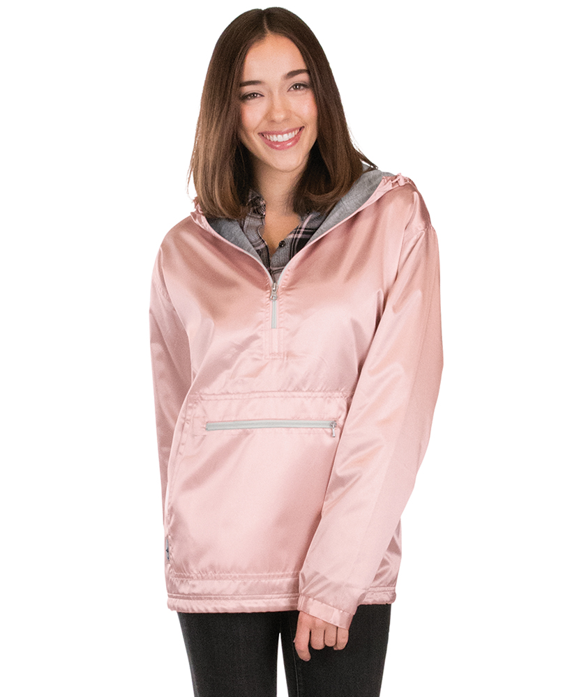Charles River Apparel Chatham Anorak Satin 5809L Rose Gold Model
