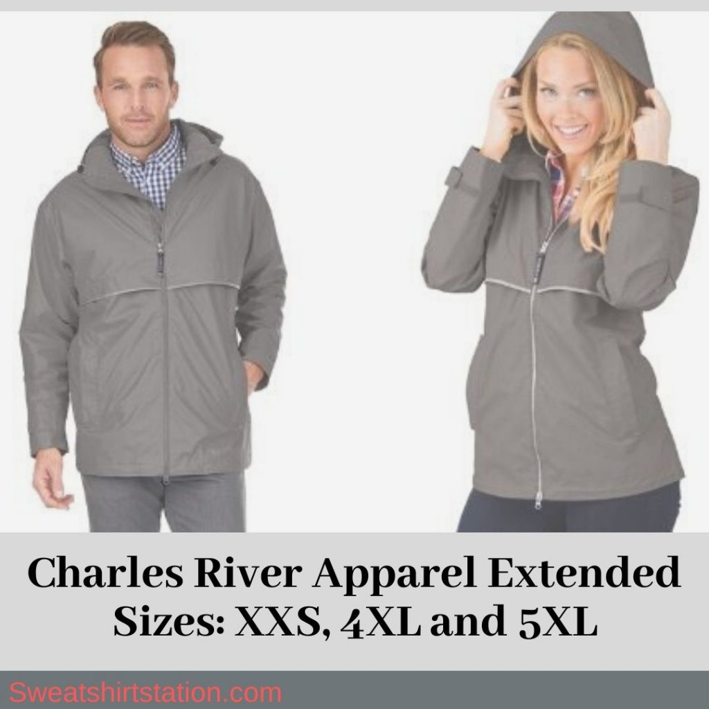 Charles River Apparel Extended Sizes: XXS, 4XL and 5XL