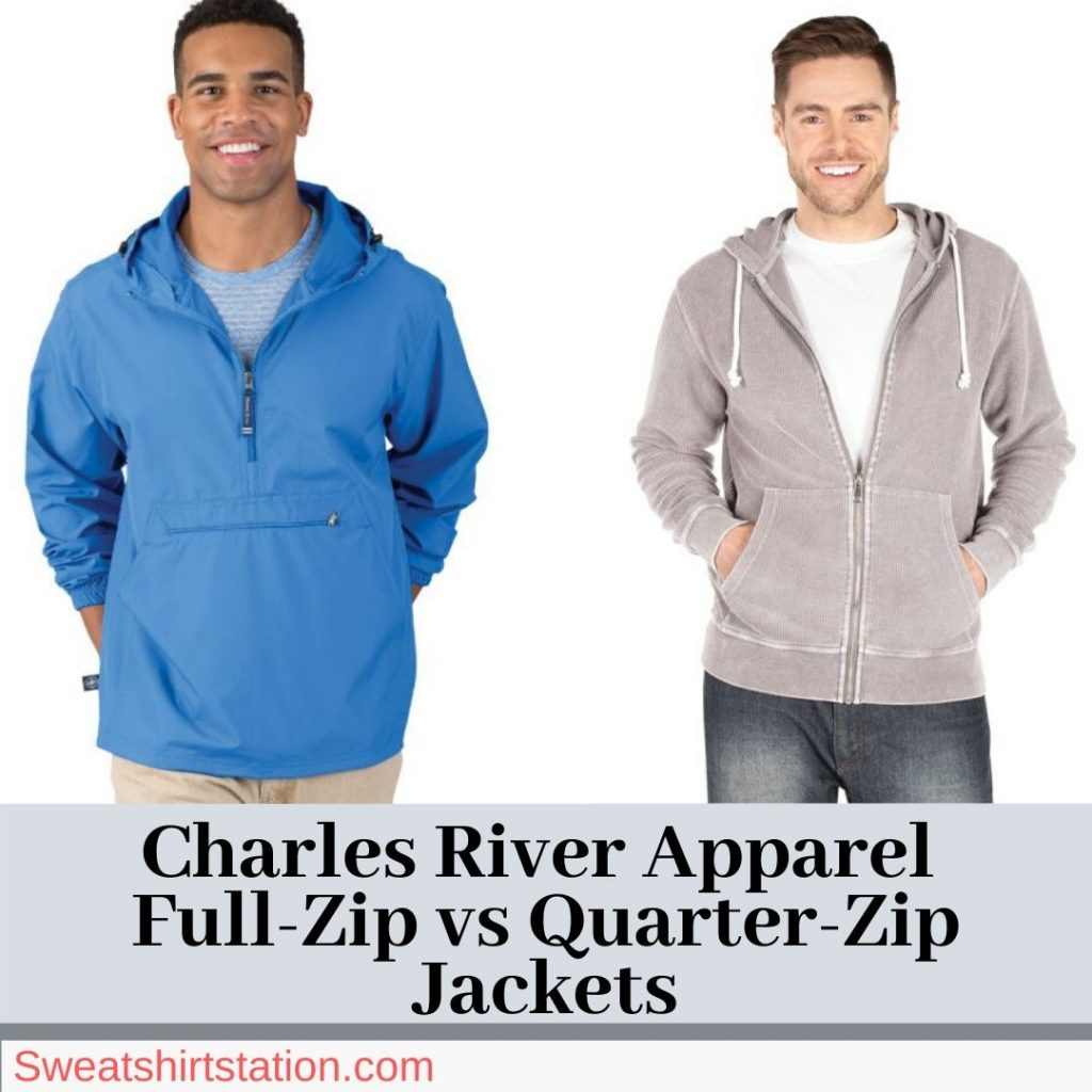 Charles River Apparel Full-Zip vs Quarter-Zip Jackets