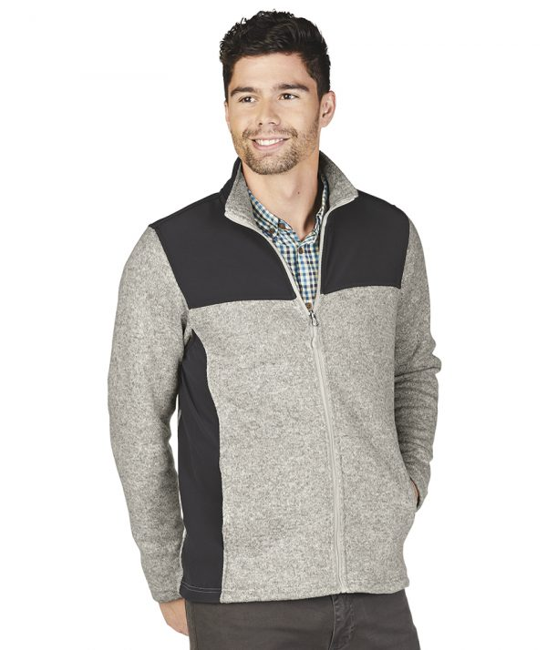Charles River Apparel Men's Concord Jacket 9995 Light Grey Heather Model