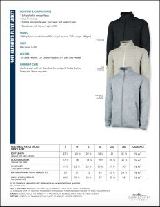 Charles River Apparel Mens Fleece Jacket Sizes
