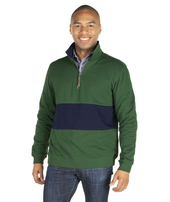 Charles River Apparel Quad Pullover 9018 Forest Navy Model