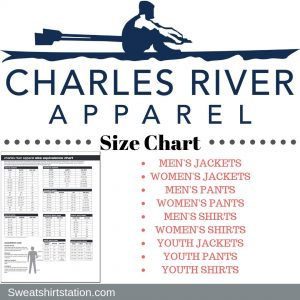 Charles River Apparel Size Chart Overview