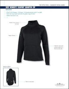 Charles River Apparel Women's Seaport Quarter-Zip Pullover 5057