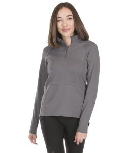 Charles River Apparel Women's Seaport Quarter-Zip Pullover 5057 Model Grey