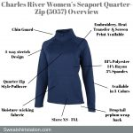 Charles River Apparel Women's Seaport Quarter-Zip Pullover 5057 Overview
