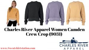 Charles River Apparel Women Camden Crew Crop (9031) Colors