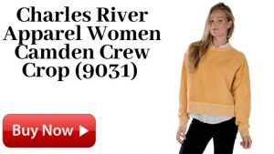 Charles River Apparel Women Camden Crew Crop (9031) For Sale