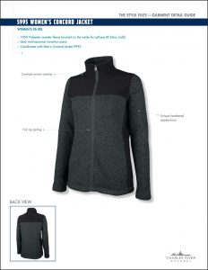 Charles River Apparel Women's Concord Jacket style 5995