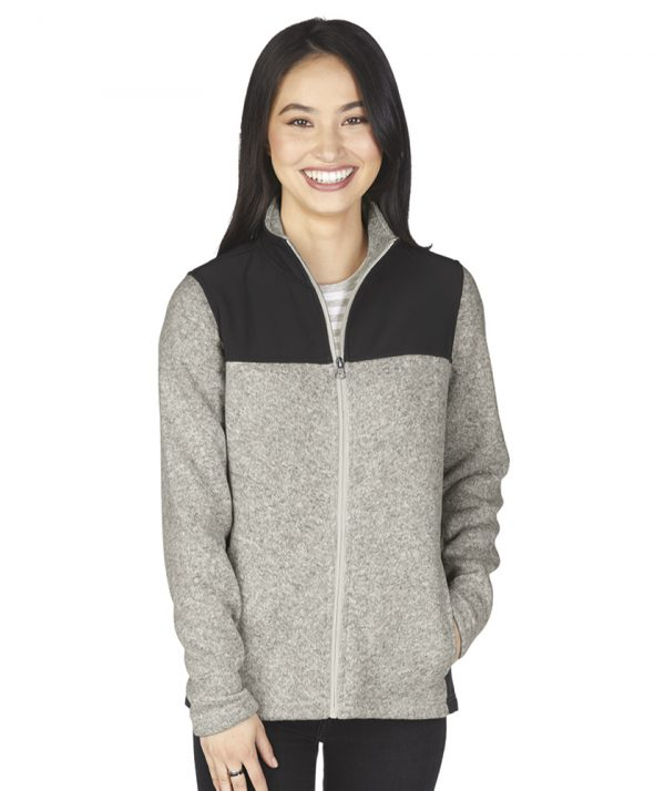 Charles River Apparel Women's Concord Jacket style 5995 Light Grey Heather Model