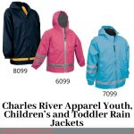 Charles River Apparel Youth, Children's and Toddler Rain Jackets