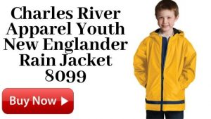 Charles River Apparel Youth New Englander Rain Jacket 8099 Yellow