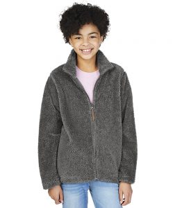 Charles River Apparel Youth Newport Fleece Jacket 8978 Model Charcoal