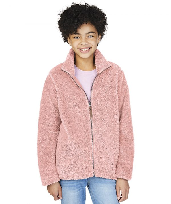 Charles River Apparel Youth Newport Fleece Jacket 8978 Model Powder Pink