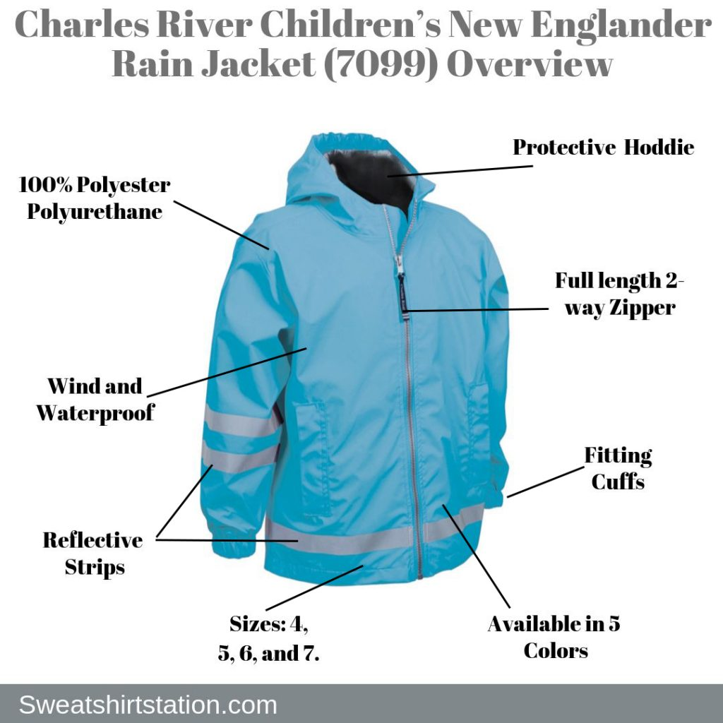 Charles River Children's New Englander Rain Jacket (7099) Overview