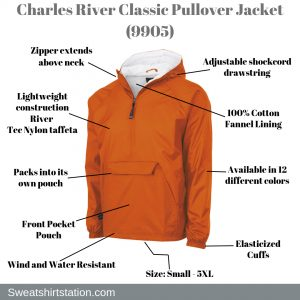 Charles River Classic Pullover Jacket (9905)