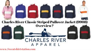 Charles River Classic Striped Pullover Jacket (9908) Colors