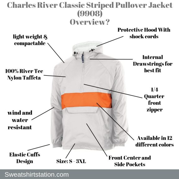 Charles River Classic Striped Pullover Jacket (9908) Overview?
