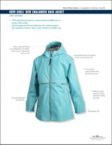 Charles River Girls' New Englander Rain Jacket (4099)