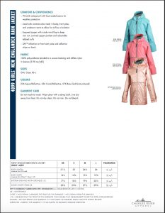 Charles River Girls' New Englander Rain Jacket (4099) Colors and Sizes