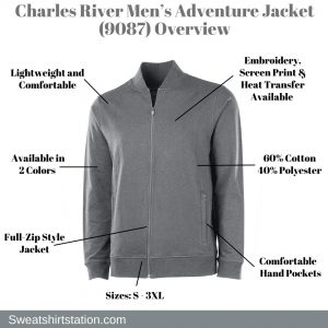 Charles River Men's Adventure Jacket (9087) Overview