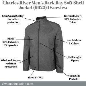 Charles River Men's Back Bay Soft Shell Jacket (9923) Overview