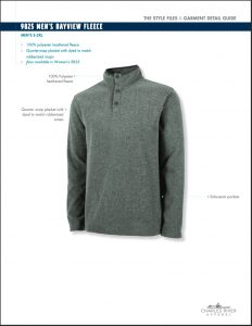 Charles River Men's Bayview Fleece Pullover (9825)