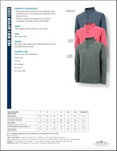 Charles River Men's Bayview Fleece Pullover (9825) Colors and Sizes