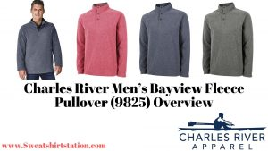 Charles River Men's Bayview Fleece Pullover (9825) Colors and styles
