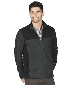 Charles River Men's Concord Jacket (9995) Charcoal Heather Model
