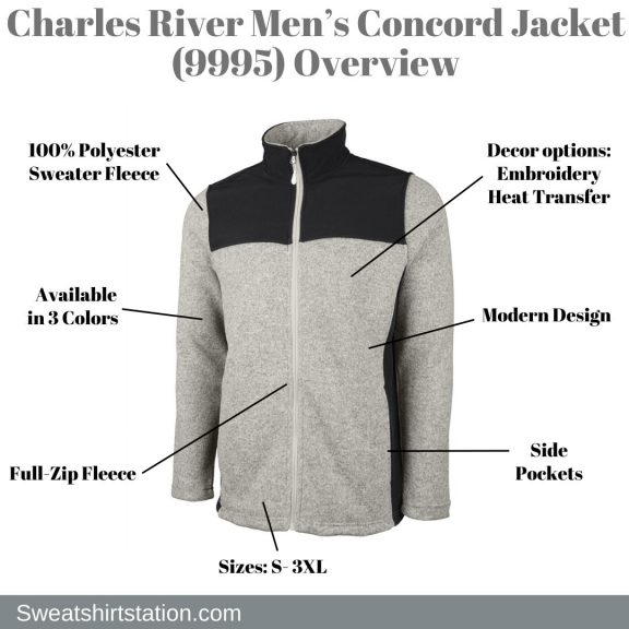 Charles River Men's Concord Jacket (9995) Overview