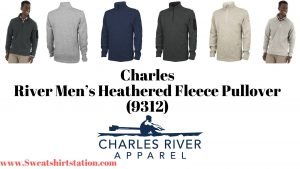 Charles River Men's Heathered Fleece Pullover (9312) Colors