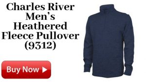 Charles River Men's Heathered Fleece Pullover (9312) For Sale