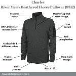 Charles River Men's Heathered Fleece Pullover (9312) Overview