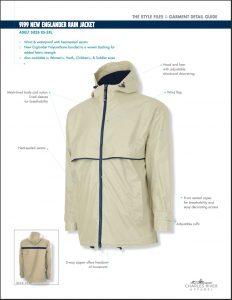 Charles River Men's New Englander Rain Jacket (9199)