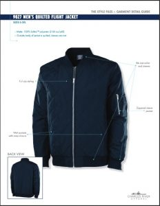 Charles River Men's Quilted Boston Flight Jacket (9027)